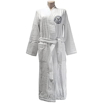 773933d3 Versace 1969 Bathrobe, Terrycloth, White, Medium-Large: Amazon.co.uk ...