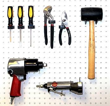 Pegboard Hooks Wallpeg Tool Organizer Box Style Peg 50 Black Flex-Lock AM-106