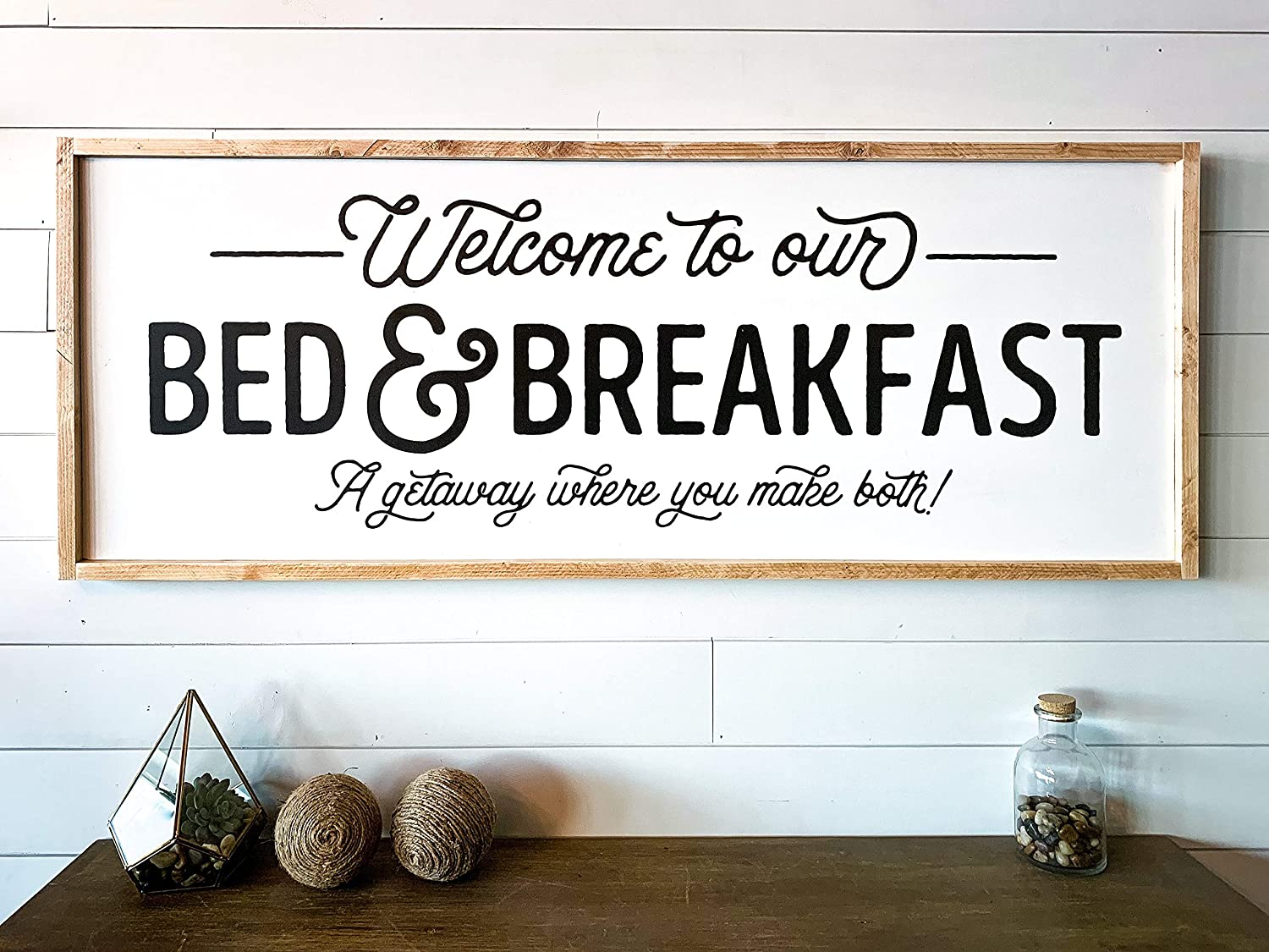 CELYCASY Mothers Day Welcome to Our Bed and Breakfast Guest Room Sign Gift Entry Foyer Front Porch Wall Decor Modern Farmhouse Gift for Her Mom Gift