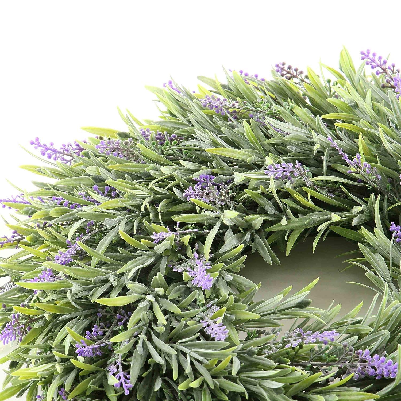 Kunstpflanze Lavendel k/ünstlich Balkon Tischdeko Garten Deko /Ø: 33 cm Fensterdeko Hochzeitsdeko knuellermarkt.de Violett Lavendelkranz Terrasse Kunstblumen Dekoration