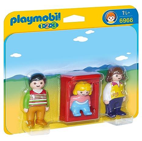 Playmobil 1.2.3 - 1.2.3 Padres con Bebé (6966): Amazon.es: Juguetes y juegos
