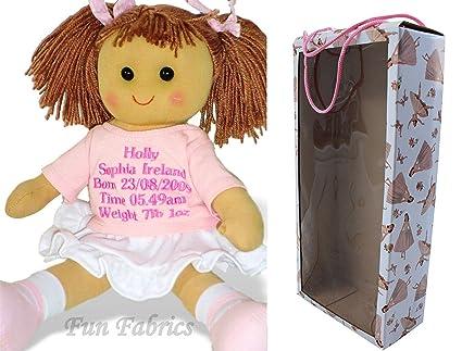 Muñeca de trapo bebé recién nacido niña - nuevo bebé de regalo ...