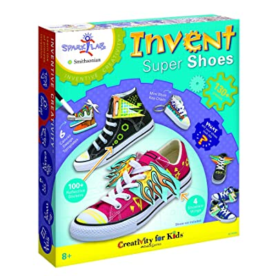 Creativity for Kids Spark!Lab Smithsonian Invent Super Shoes Coloring Kit: Toys & Games