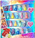 TownleyGirl Disney Princesses Super Sparkly Peel-Off Nail Polish Deluxe Present Set for Girls, 18 Colors