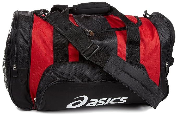 5e325b74e6a Amazon.com: ASICS Huddle Medium Duffle Bag, Sport Red/Black: Clothing