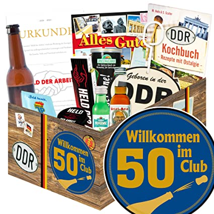 Wilkommen Im Club 50 Ddr Geschenk Mann Geburtstag 50 Partner