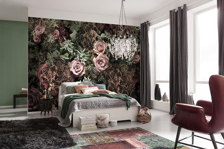 Komar 8 Lot de 8 980/368/x 254/cm en velours Motif fleursPapier peint/ /rose