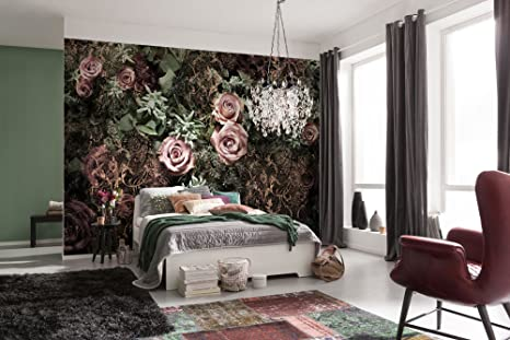 komar 8 980 velvet flower floral wallpaper mural, pink, 368 x 254 cmimage unavailable image not available for