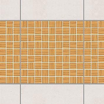 Fesselnd Fliesen Bordüre   Mosaikfliesen Holzoptik Weißtanne 10cm X 10cm,  Setgröße:4teilig