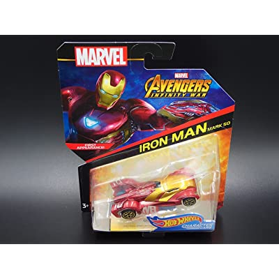 Hot Wheels Character Cars 2020 - Marvel Avengers Infinity War - Iron Man,Burgundy Metallic: Toys & Games