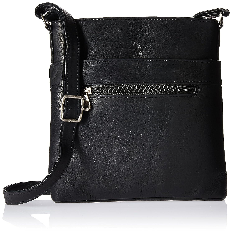 Amazon.com  Royce Leather Triple Zip Crossbody Bag in Colombian Leather Cross  Body