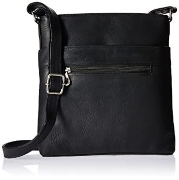 Amazon.com  Royce Leather Triple Zip Crossbody Bag in Colombian Leather Cross  Body