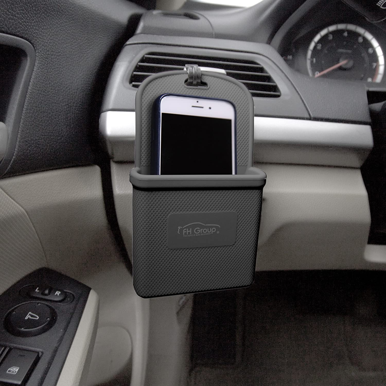 FH Group FH3022BLACK Black Silicone Car Vent Mounted Phone Holder (Smartphone Works iPhone Plus Galaxy Note Black Color)