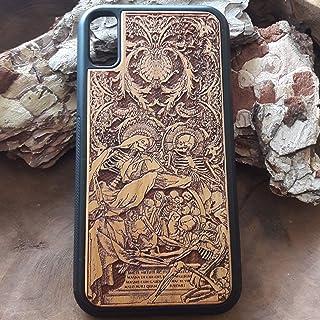 iPhone 7 Case, S9 plus Case, iPhone 8 Case, Samsung Galaxy S8 Plus, Custodia in legno per Apple iPhone y Samsung Cover rigida - Protezione per cellulare Case Design legno di ciliegio'Souls' Arte