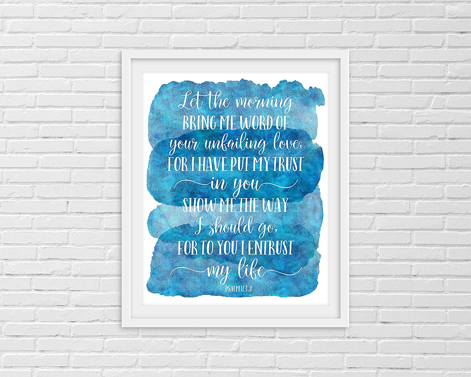 rfy9u7 Wood Plague-Let The Morning Bring Me Word, Psalm 143:8, Bible Verse, Christian Gifts, Scripture Wall Art, Nursery Decor, Dorm Room, Religious, Decoration for Living Room, Bedroom 12