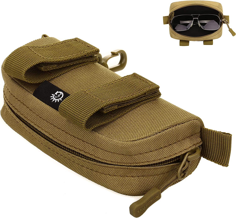 Dunkelbraun Damen und Kind Hacoly Brillenetui Bambus Brillenbox Brillen Schutztasche Schockabsorbierend Glasses Case Etui f/ür M/änner