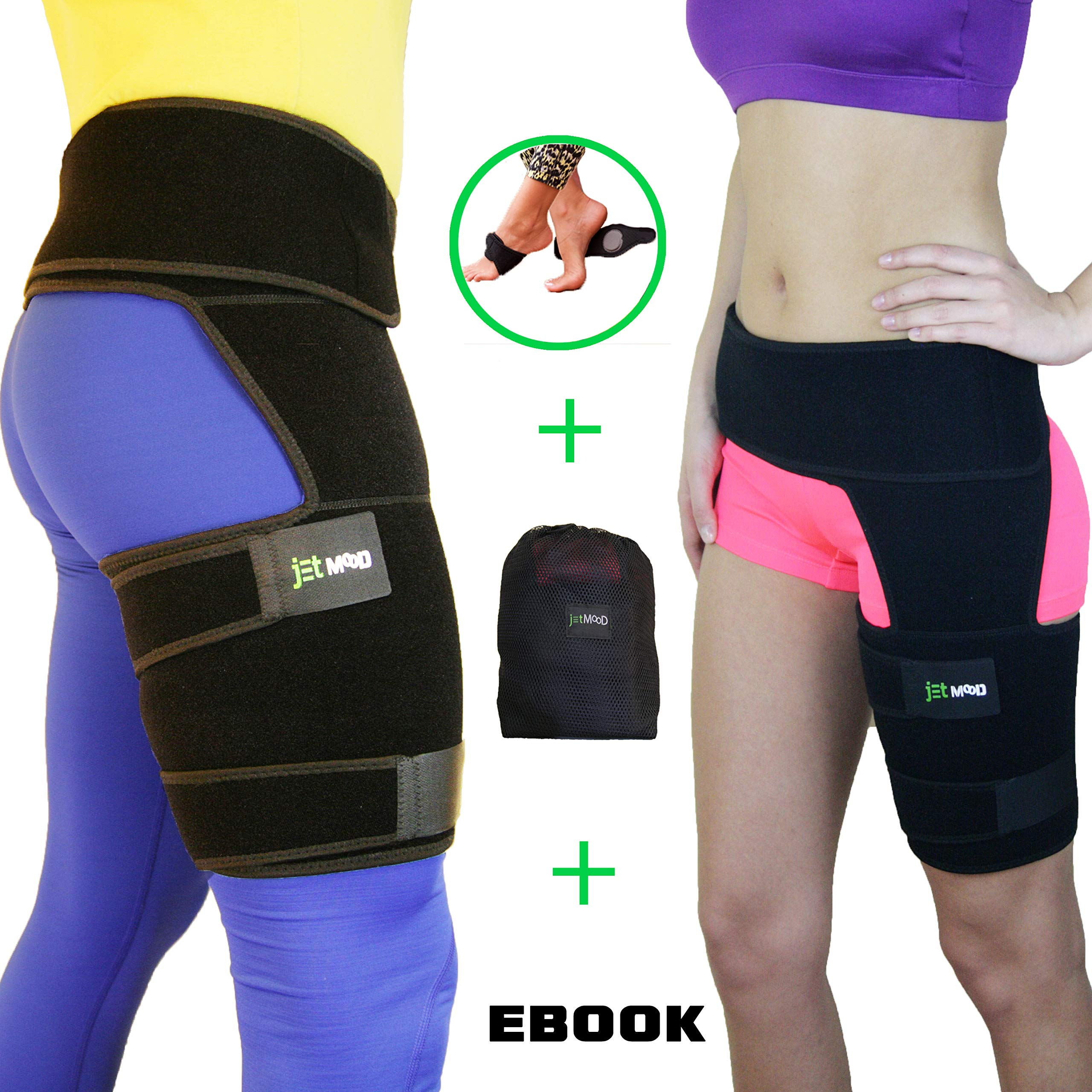 Hip Support Brace - Compression Groin Support for Men Women - Hip Stabilizer - Sciatic Nerve Pain Relief - Hip Flexor Brace - Hip Arthritis - Adjustable Thigh Compression Sleeve - Muscle Recovery