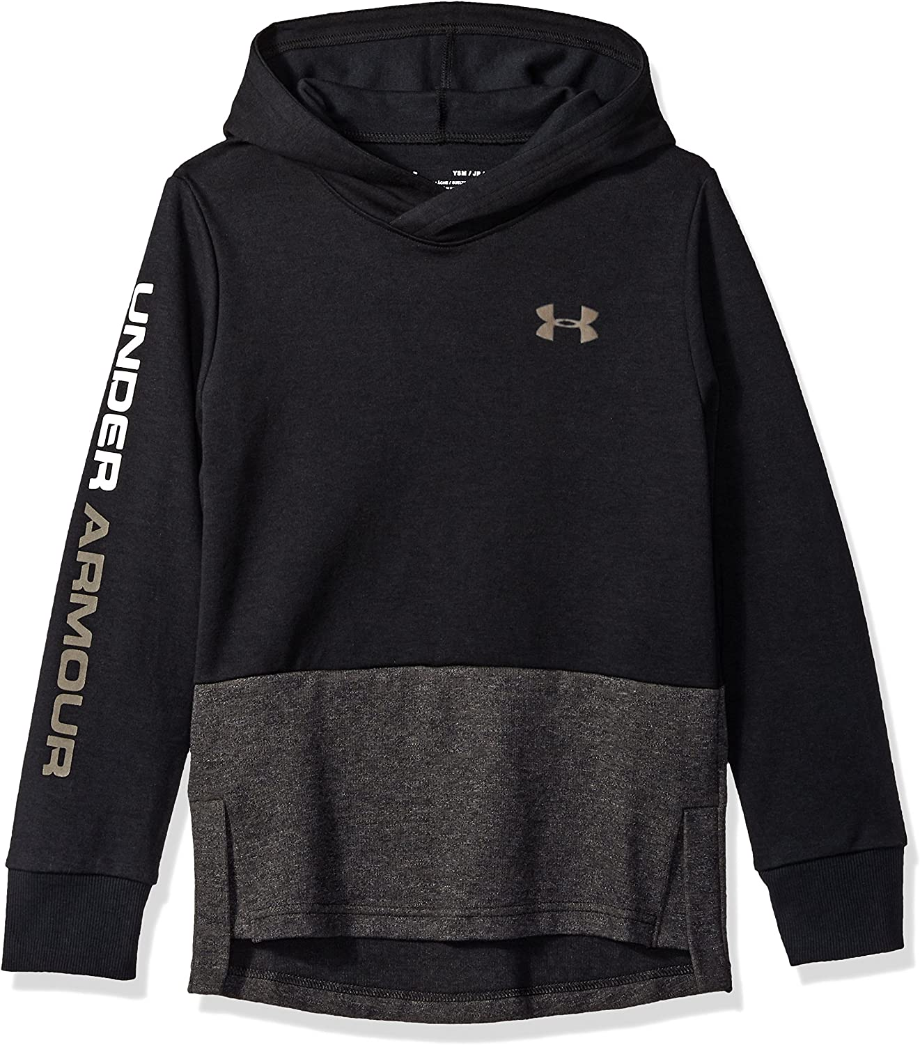 Youth Large //Fresh Clay 001 Under Armour Boys Double Knit Hoodie Black
