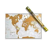 Scratch le monde - Grattez les endroits que vous avez visité - détails cartographiques - 84,1 cm (l) x 59,4 cm (h)