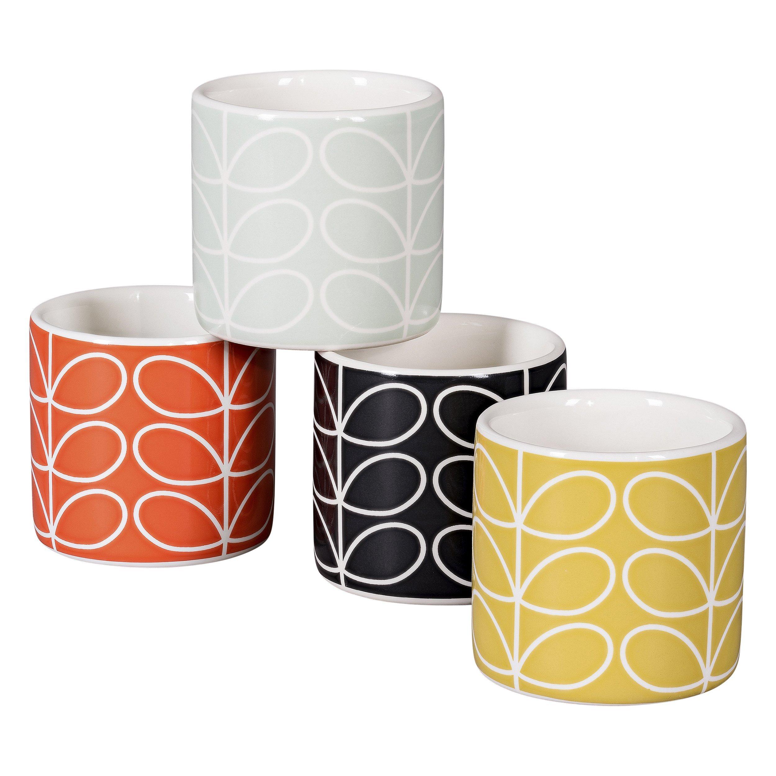 Set of 4 Egg Cups | Linear Stem Design