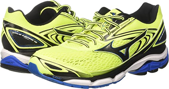 Mizuno Wave Inspire, Zapatillas de Running para Hombre, Multicolor (Safetyyellow/Black/directoireblue), 40.5 EU: Amazon.es: Zapatos y complementos