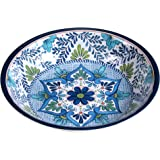"Certified International Talavera Melamine 13.75"" x 2.75"" Large Serving Bowl, Multicolor -"