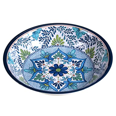 Certified International Talavera Melamine 13.75  x 2.75  Large Serving Bowl, Multicolor - 20291