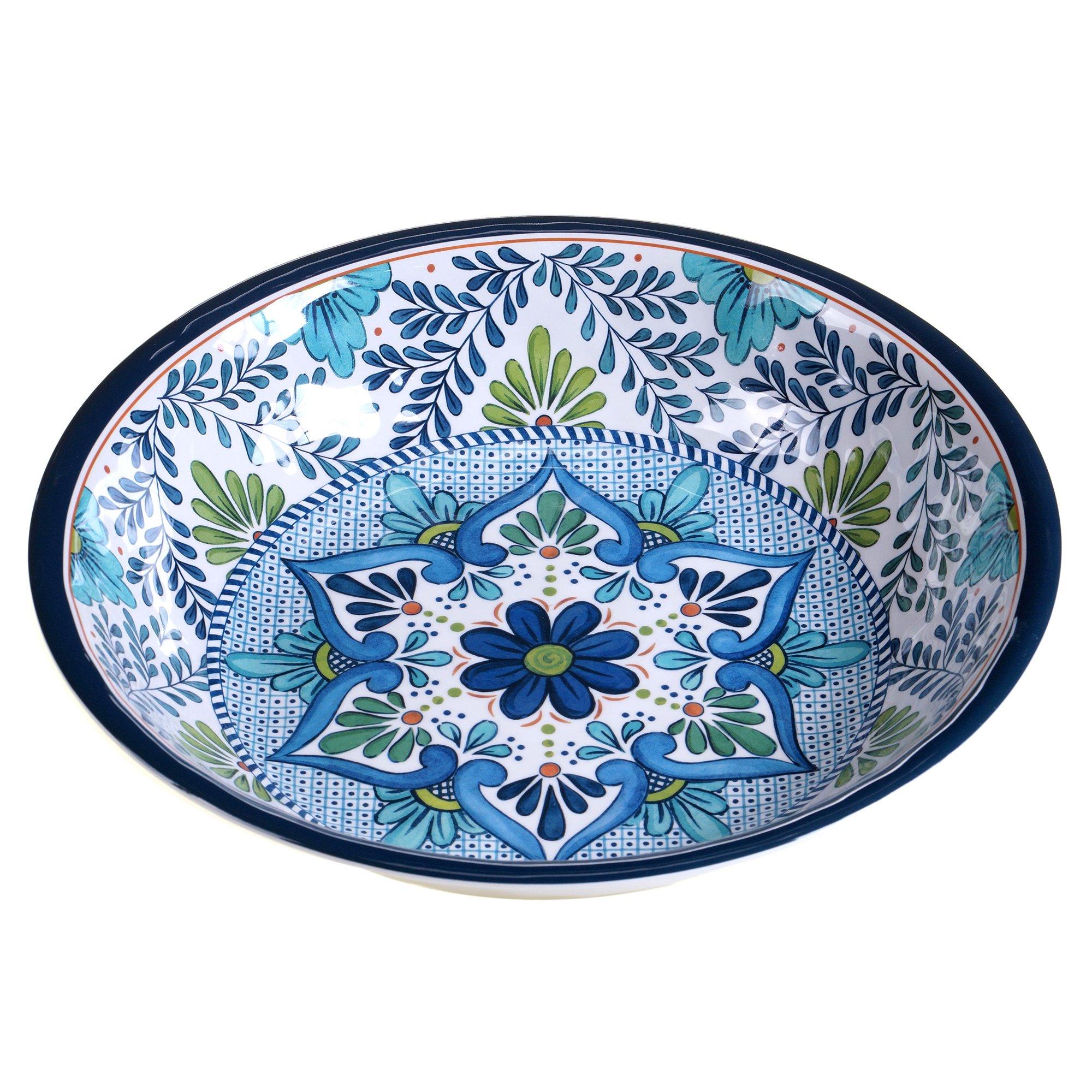Certified International Talavera Melamine 13.75'' x 2.75'' Large Serving Bowl, Multicolor