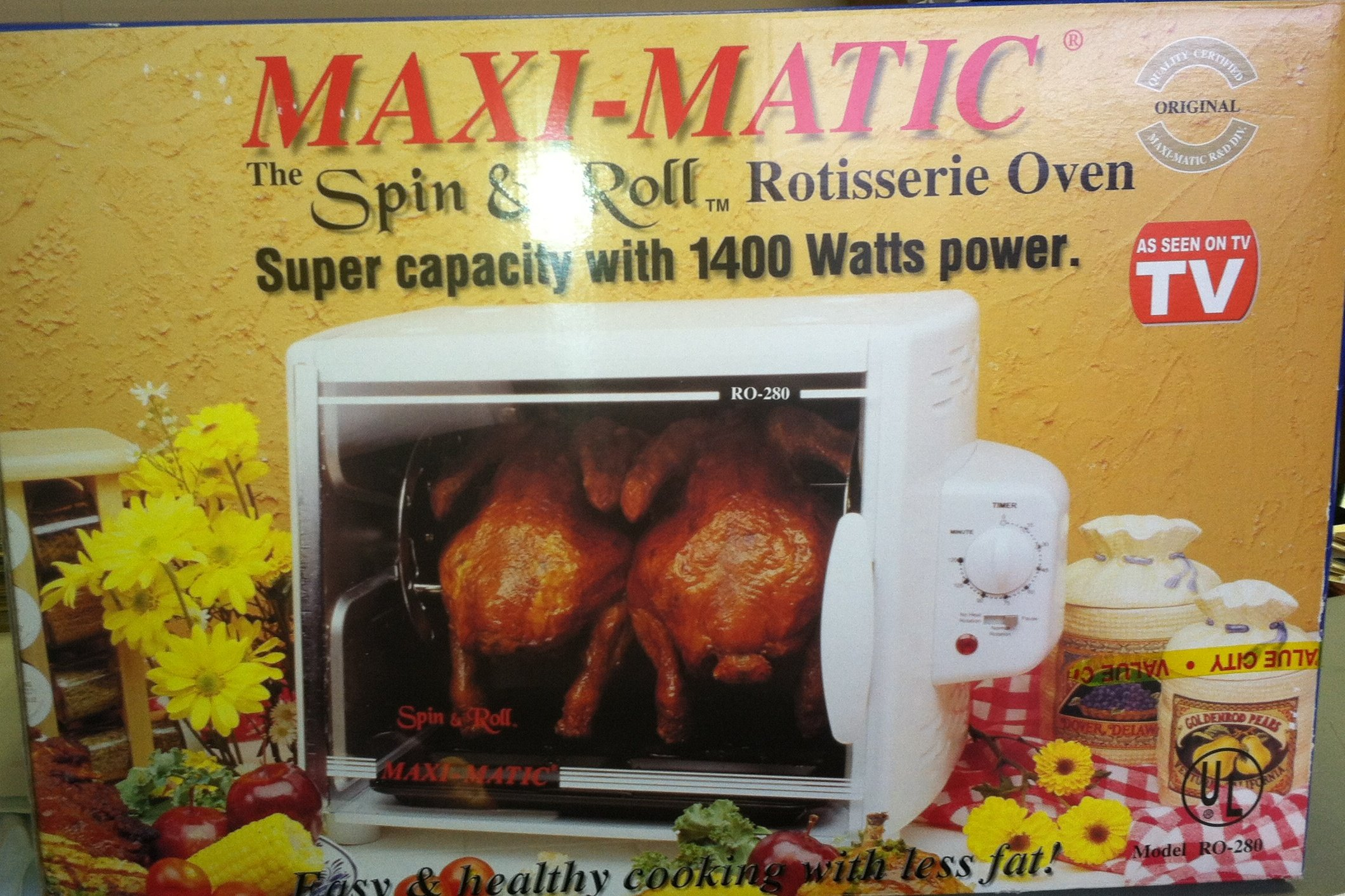 MAXI-MATIC RO-280 Spin & Roll Rotisserie Oven