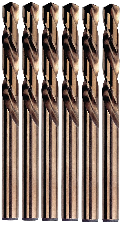Left Handed-Mechanics Length Irwin Tools 30508 1//8-Inch Cobalt 135-Degree Pack of 6