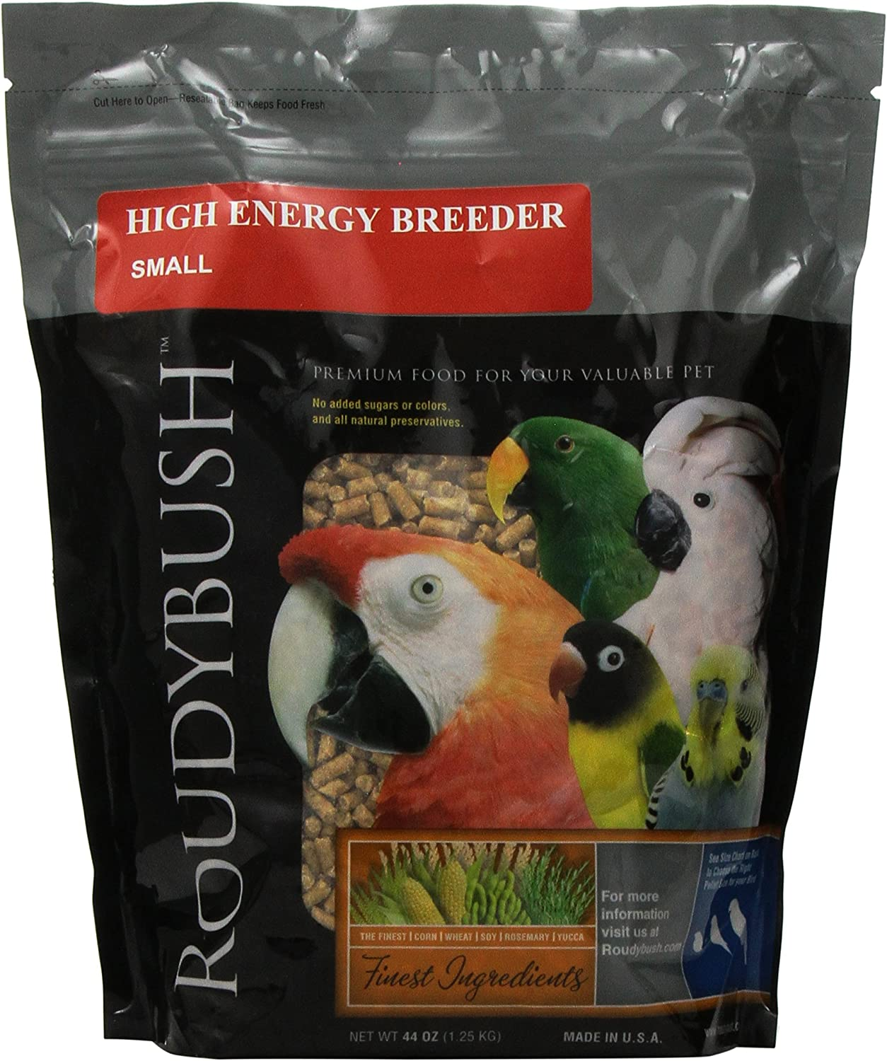 RoudyBush High Energy Breeder Bird Food, Small, 44-Ounce