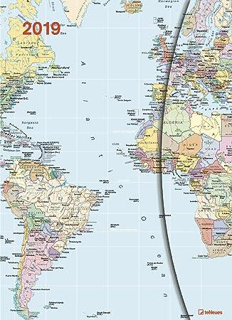 Funda Calendario Big - World Maps con cierre magnético ...