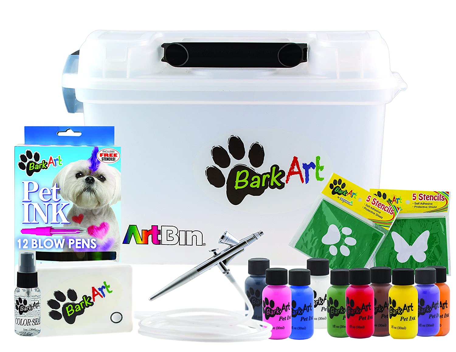 Espree Animal Products 1 Box Airbrush with colors Complete Kit