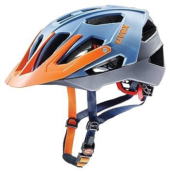 Uvex Quatro - Casco de Bicicleta - Naranja/Azul Contorno de la Cabeza 56-