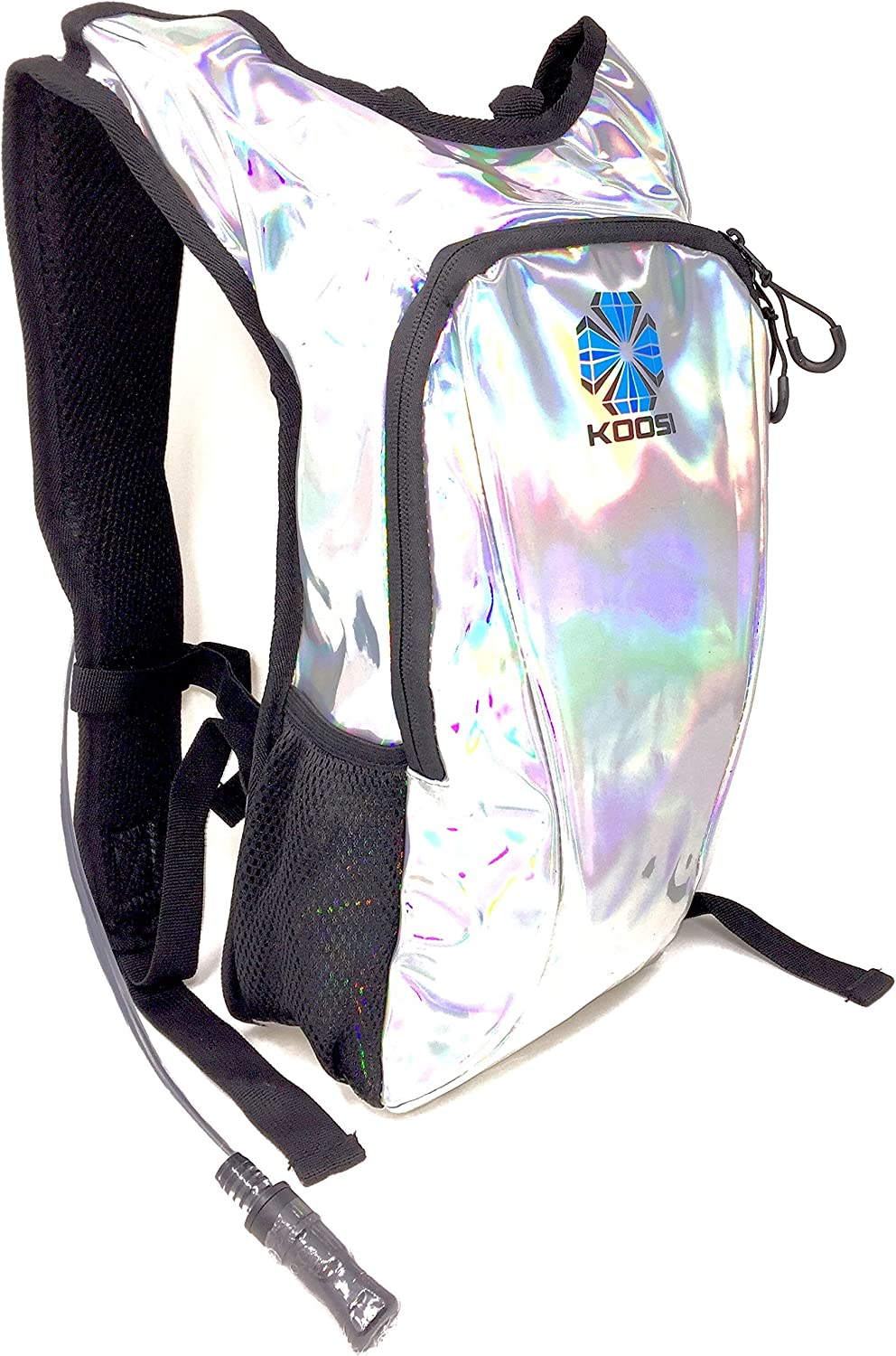 Koosi Hydra-Pack – Holographic Backpack with Hydration Water Bladder Designed Especially for Raves Festivals