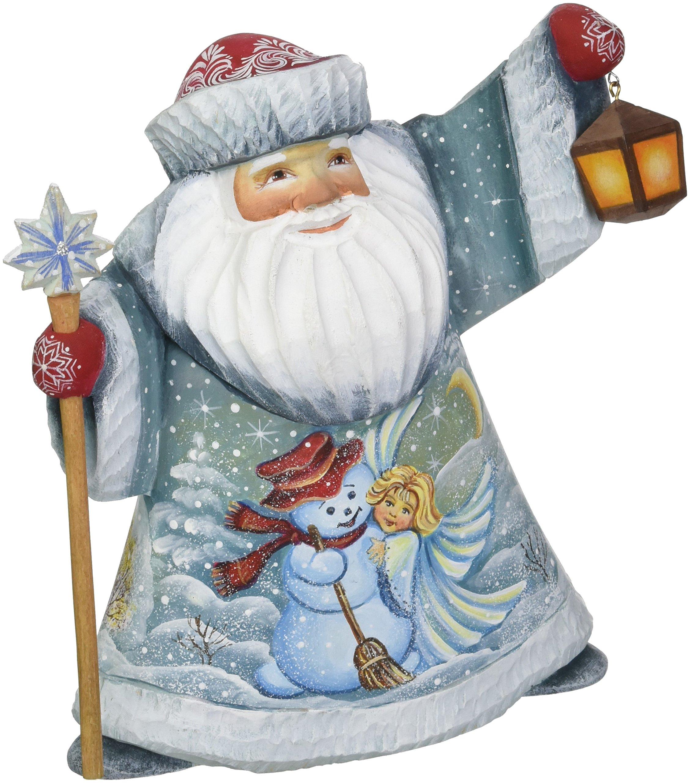 G. Debrekht Happy Couple Santa Hand-Painted Wood Carving