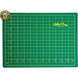Self Healing Cutting Mat - Double Sided (Green/Blue) - Professional - 5 Layers - Rotary Blade Compatible - For Arts, Crafts, Sewing, Handmade - A4 (9x12 inch).