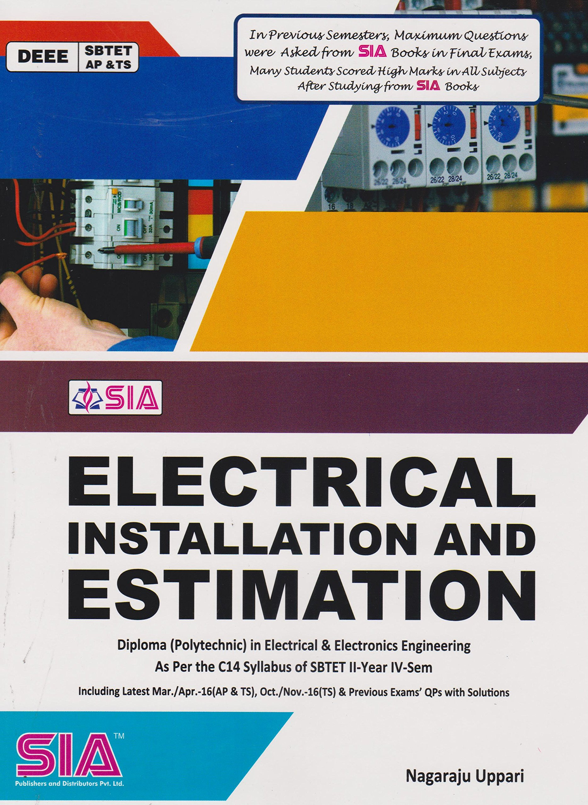 Buy Diploma Second Year Fourth Sem ELECTRICAL INSTALLATION ...