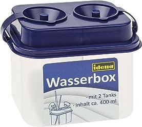 Idena 60039 - Wasserbox mit 2 Tanks, Sicherheitsverschluss, blau