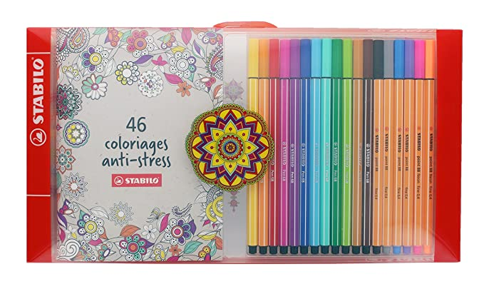 coloriage anti stress stabilo