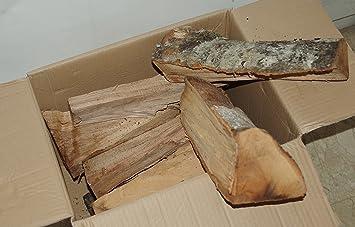 ZAMBONIN Madera de Haya en cepas de 33 cm de Longitud en Caja de 12 kg.: Amazon.es: Hogar