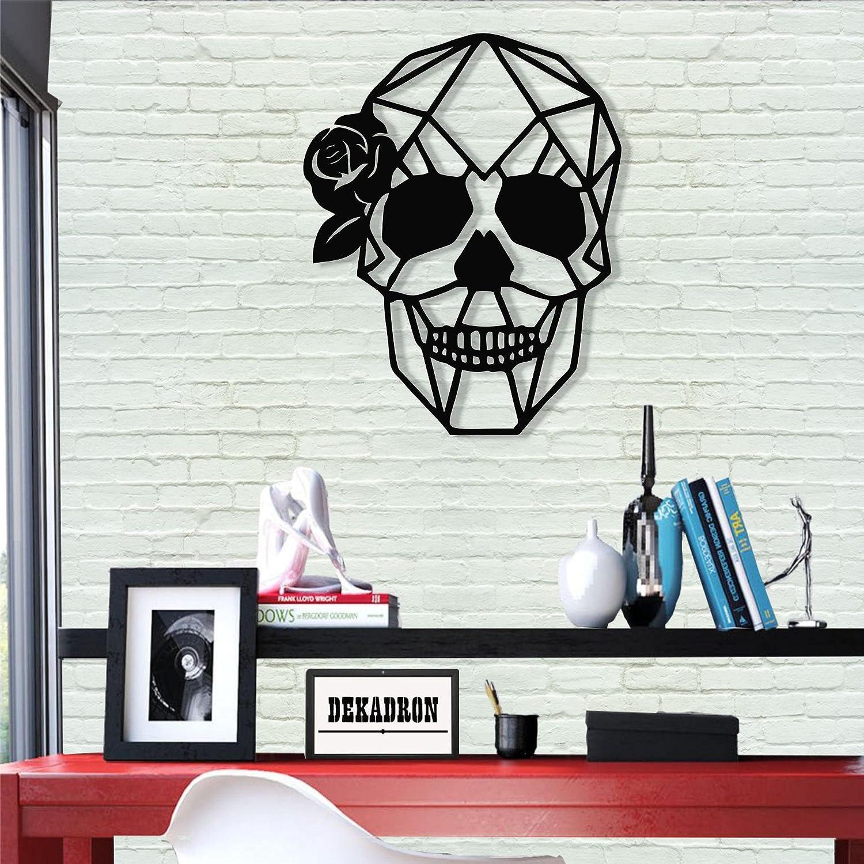 Amazon Com Dekadron Metal Wall Art Skull Viva La Vida 3d Wall Silhouette Metal Wall Decor Home Office Decoration Bedroom Living Room Decor Sculpture 22 W X 30 H 56x76cm Home