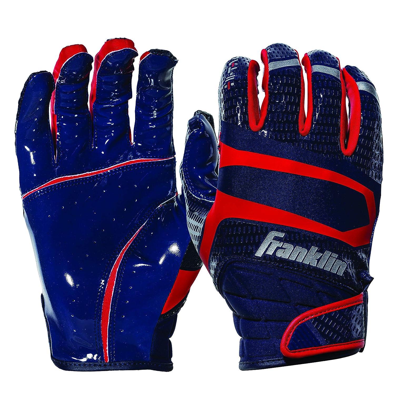 Franklinスポーツhi-tackプレミアムFootball Receiver Gloves B07DNQ1JGP ネイビー/レッド Youth Large Youth Large|ネイビー/レッド