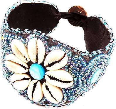 BRACELET perles BIJOUX ARTISANAL ETHNIQUE NACRE COQUILLAGE rocaille bangles