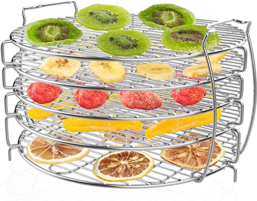 Dehydrator Stand Dehydrator Rack, Zalava Grill Stand Air Fryer Compatible with Ninja Foodi Pressure Cooker and Air Fryer 6.5 and 8 Quart Food Grade 304 Stainless Steel with 5 Stackable Layers: Amazon.de: Küche & Haushalt