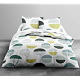 Loreto - A Quality Linen Brand 144 TC 100% Cotton Double Bedsheet with 2 Pillow Covers - Multi Colour