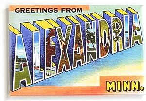 Greetings from Alexandria Minnesota Fridge Magnet (2 x 3 inches)