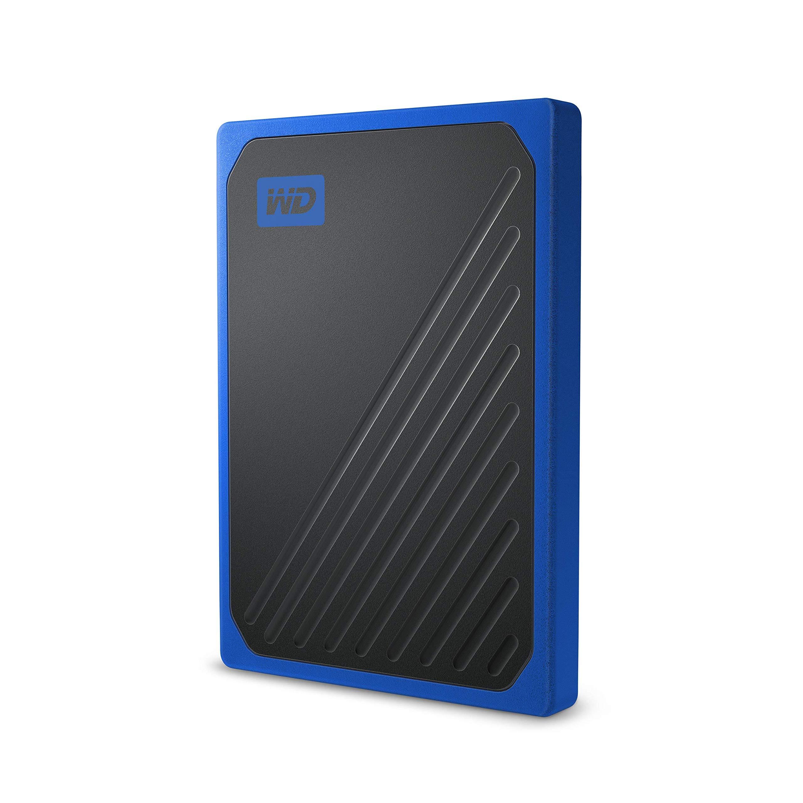 WD 500GB My Passport Go SSD Cobalt Portable External Storage, USB 3.0 - WDBMCG5000ABT-WESN by Western Digital