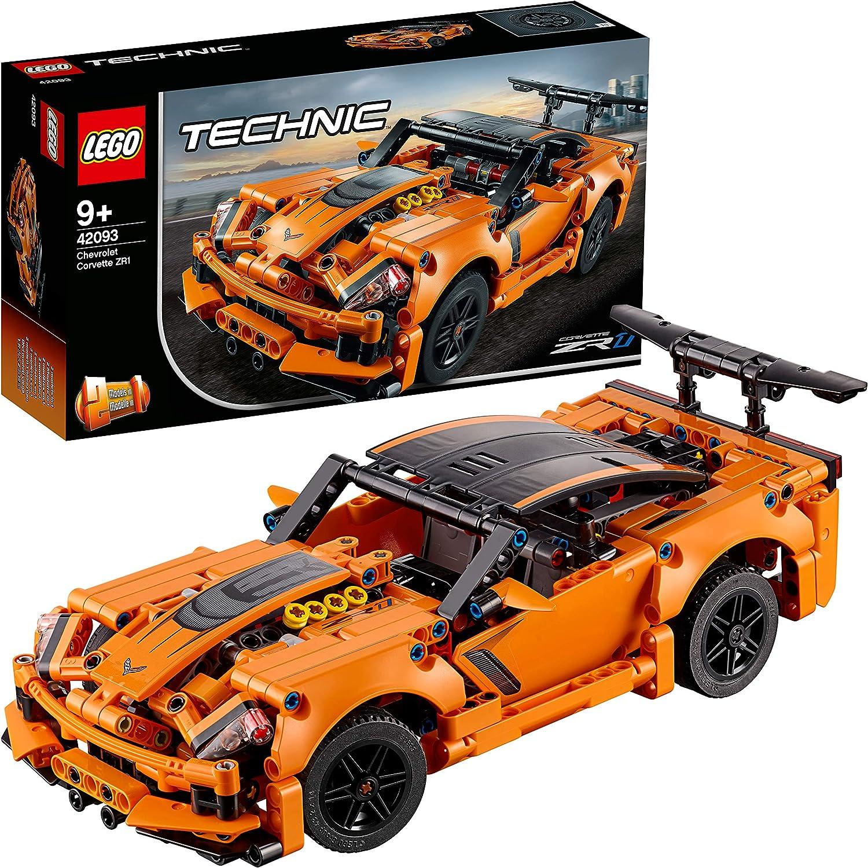 Amazon Com Lego Technic Chevrolet Corvette Zr1 42093 Building Kit 579 Pieces Toys Games
