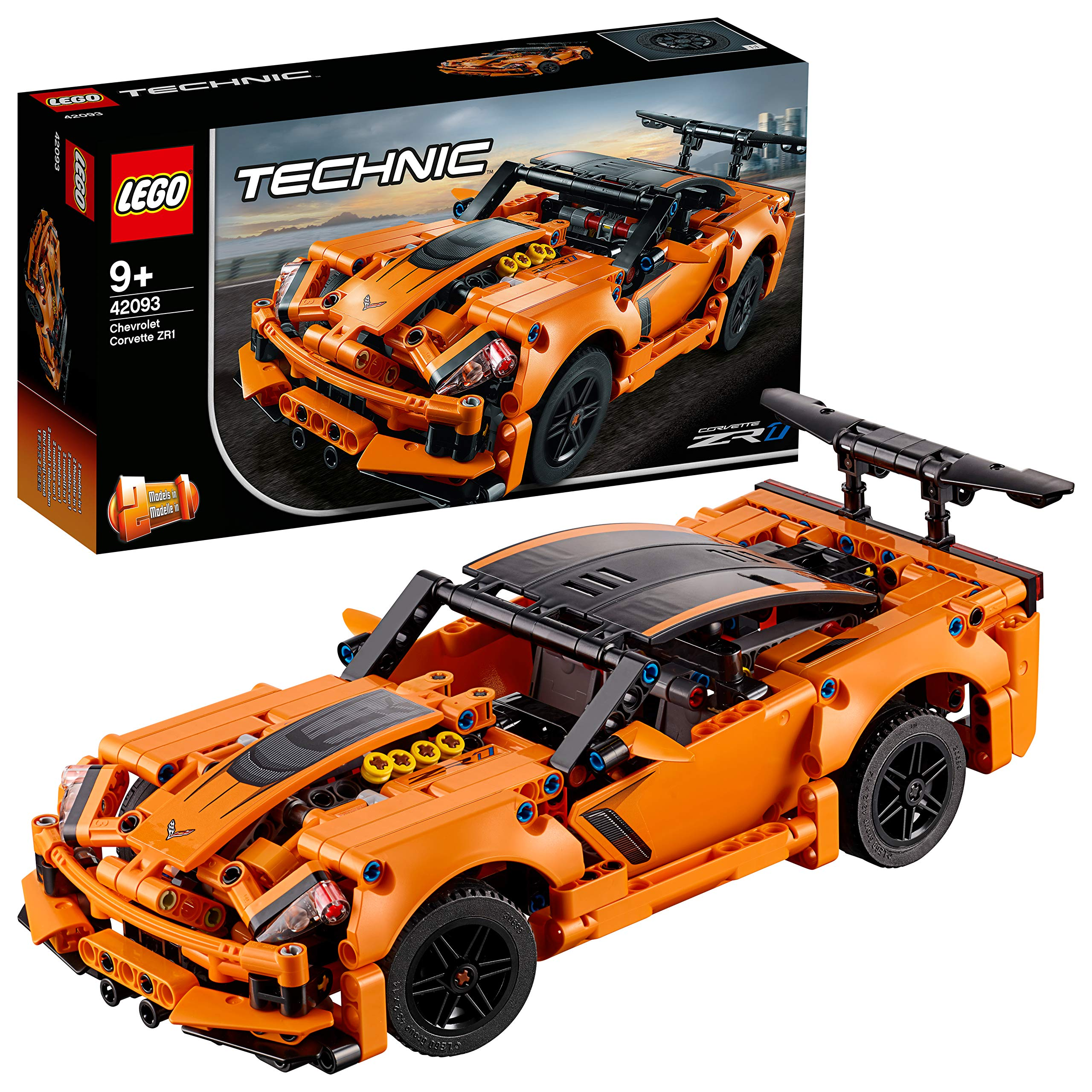 LEGO Technic Chevrolet Corvette ZR1 42093 Building Kit, 2019 (579 Pieces) by LEGO